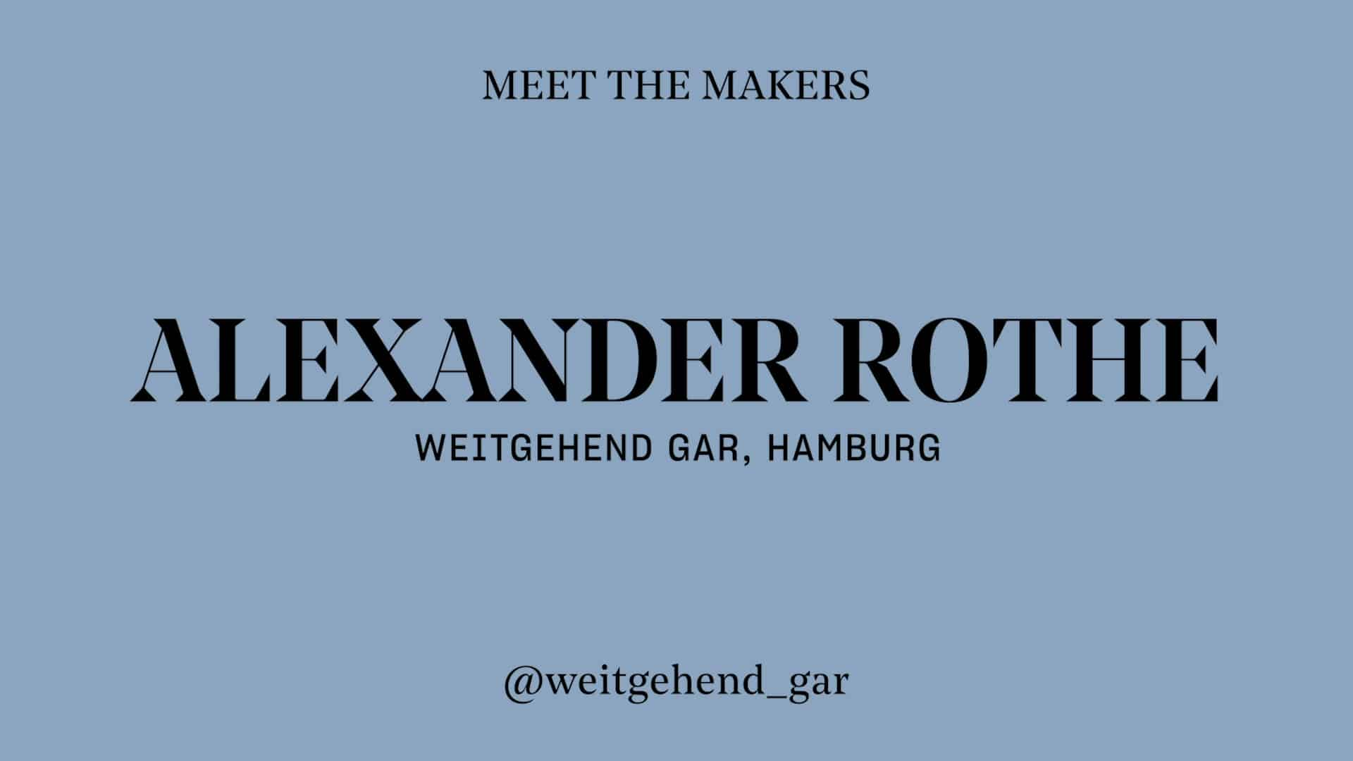 Alexander Rothe - Weitgehend Gar