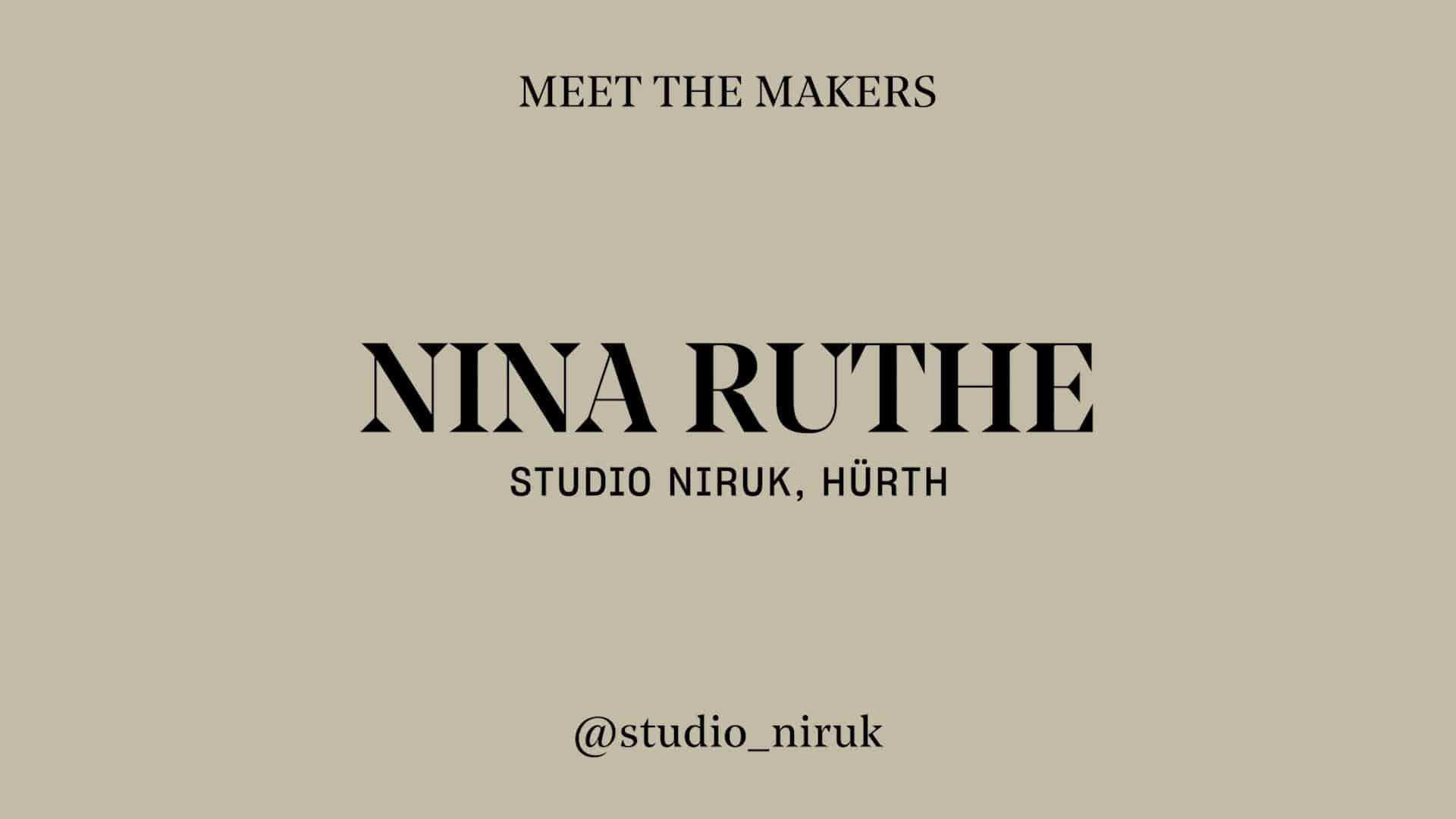 Nina Ruthe Studio Niruk